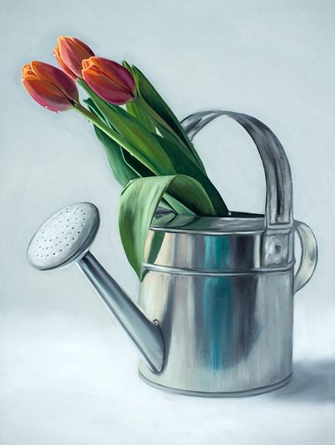 """""""Spring Tulips"""" original fine art by Lauren Pretorius"""