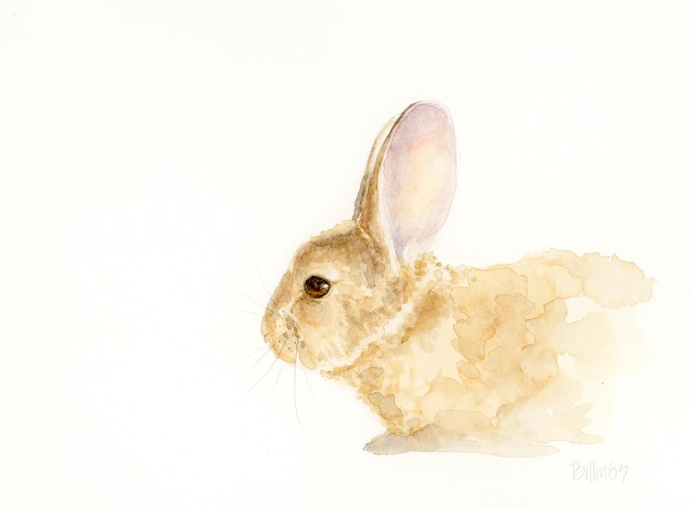 """Approaching Rabbit Study I"" original fine art by Susanne Billings"
