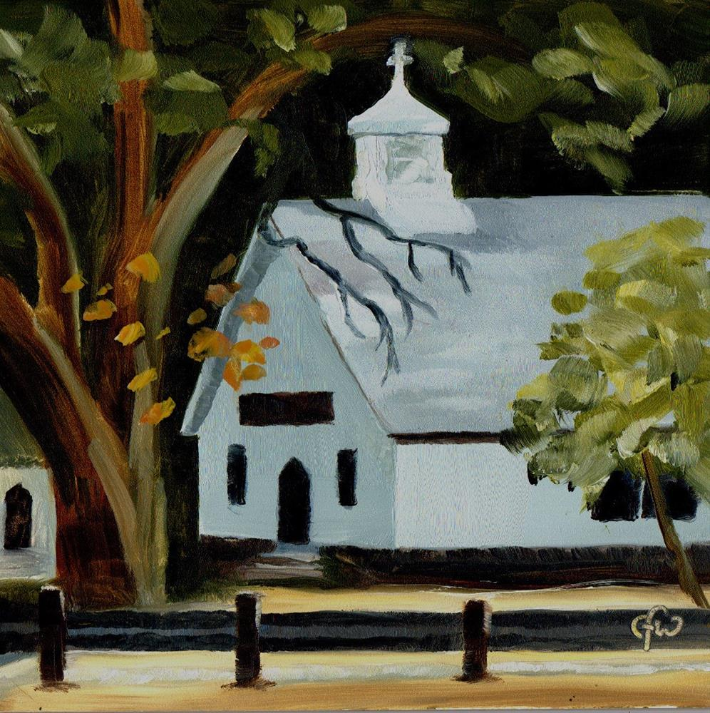 """Church in the Park"" original fine art by Gary Westlake"