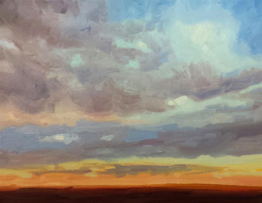 """Skyscape 1"" original fine art by K.R. McCain"