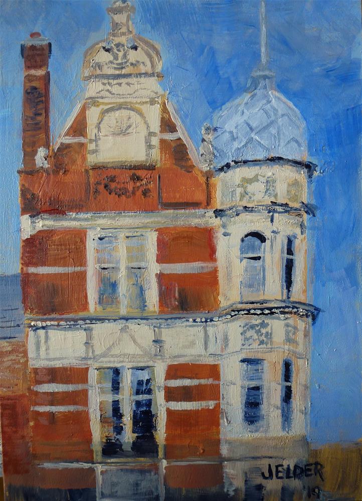 """London No. 13"" original fine art by Judith Elder"