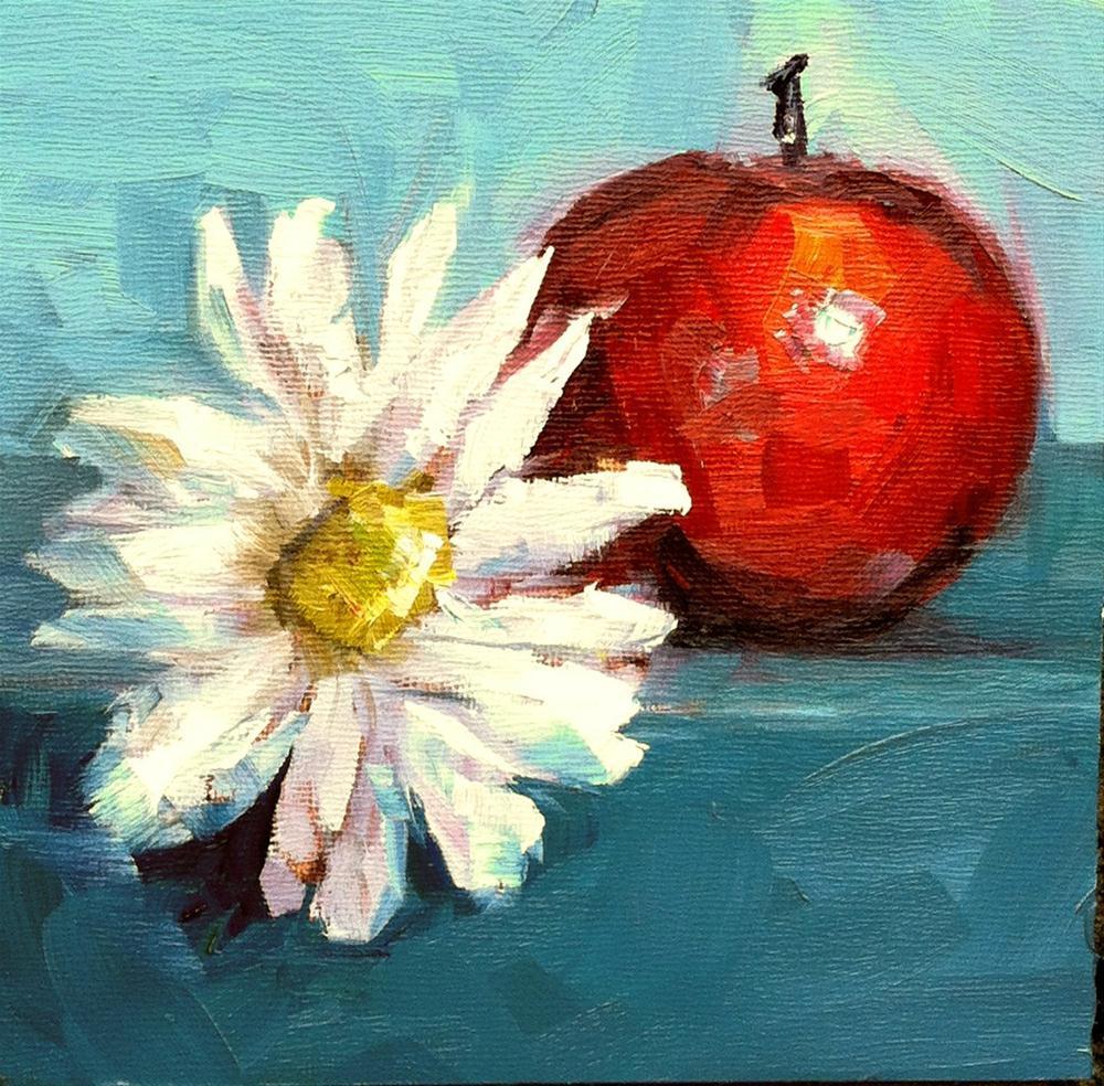 """Apples with Brie"" original fine art by Kristen Dukat"