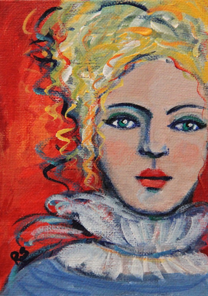 """Lydia"" original fine art by Roberta Schmidt"
