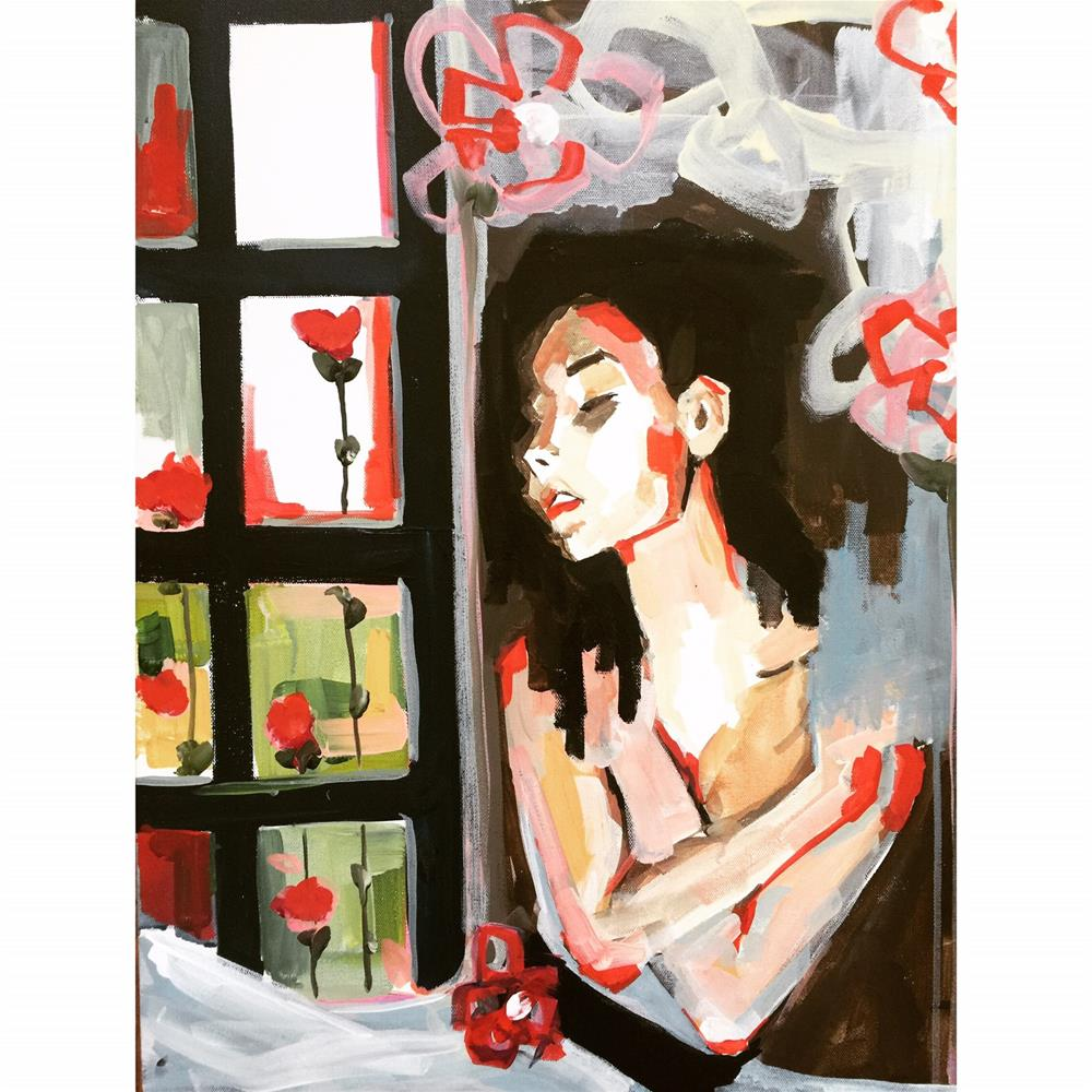 """561 Red Roses Too"" original fine art by Jenny Doh"