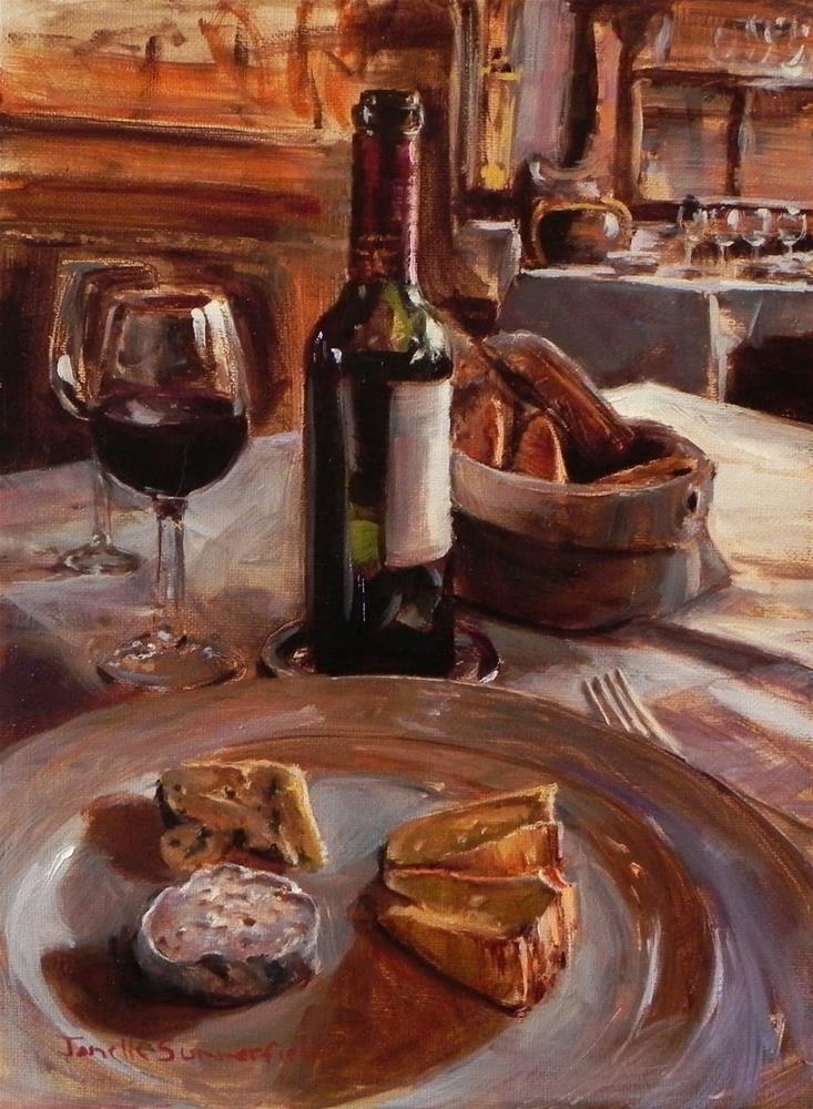 """Wine and Cheese II"" original fine art by Jonelle Summerfield"