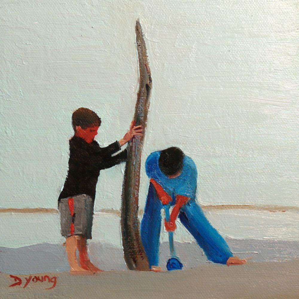 """524 Engineers"" original fine art by Darlene Young"