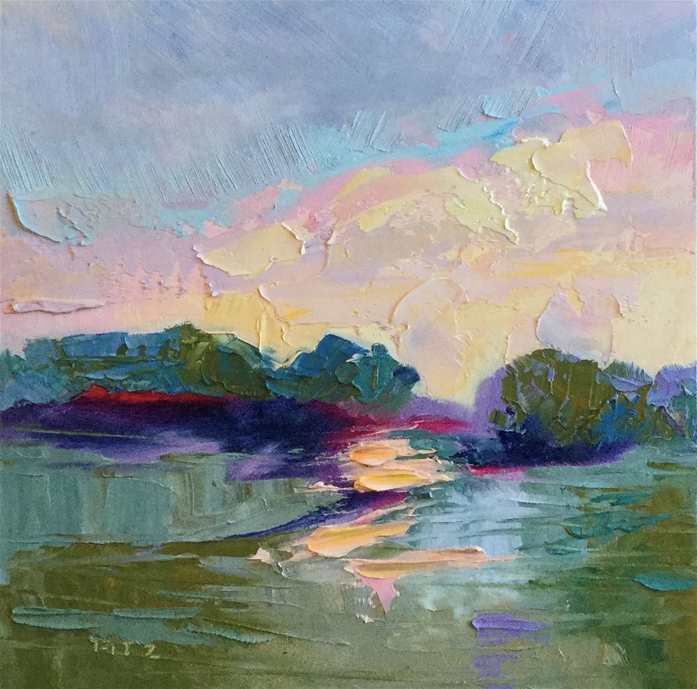 """Impasto Landscape 34"" original fine art by Charlotte Fitzgerald"