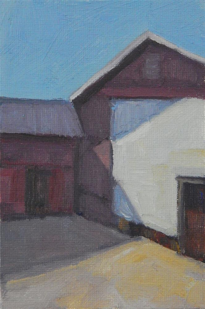 """A Red Barn (2)"" original fine art by Lisa Kyle"