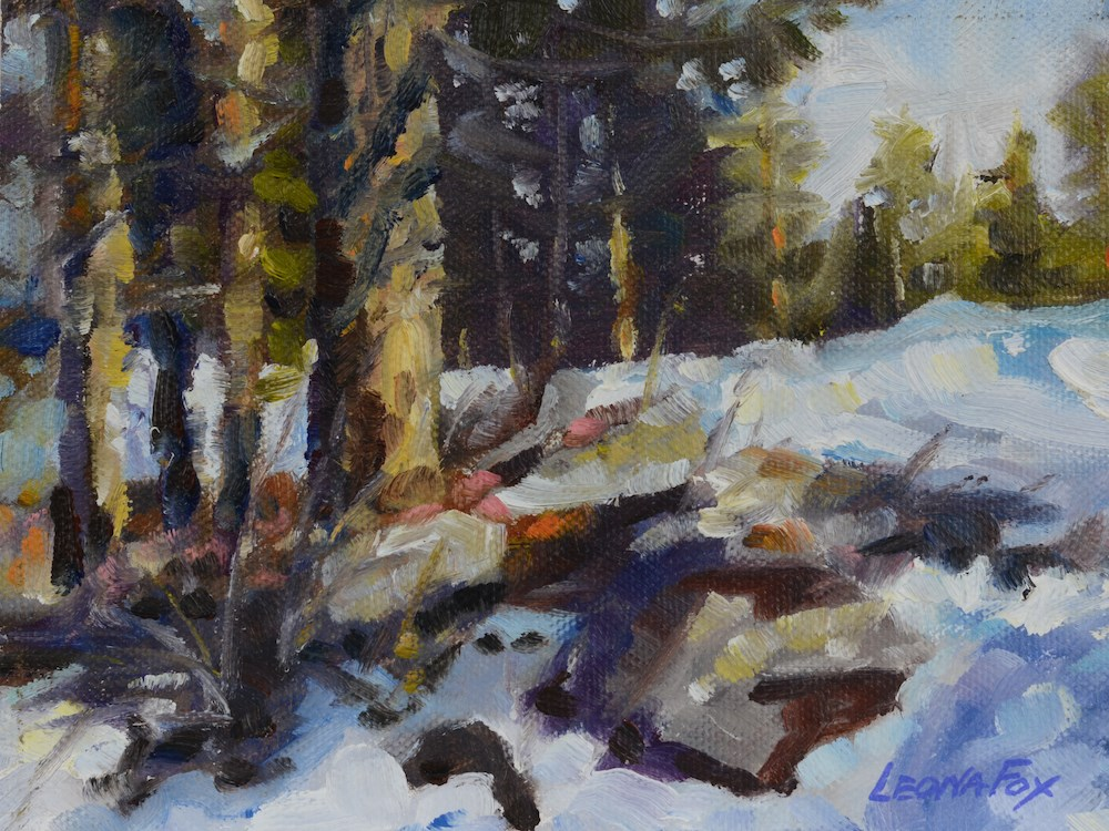 """Winter Landscape 2"" original fine art by Leona Fox"