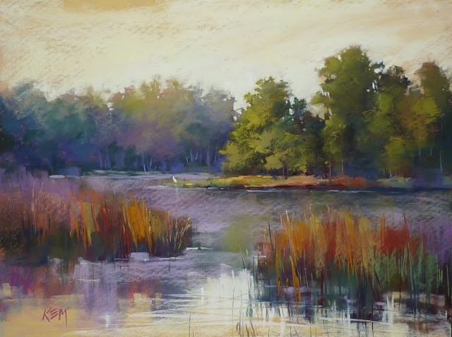 """Behind the Scenes: Warm Up Exercises for Painting Large"" original fine art by Karen Margulis"