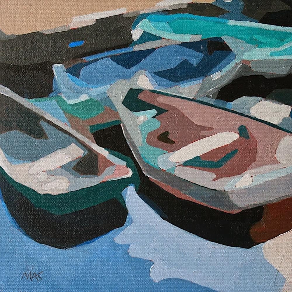"""""""Abstract Boats 2"""" original fine art by Mary Anne Cary"""