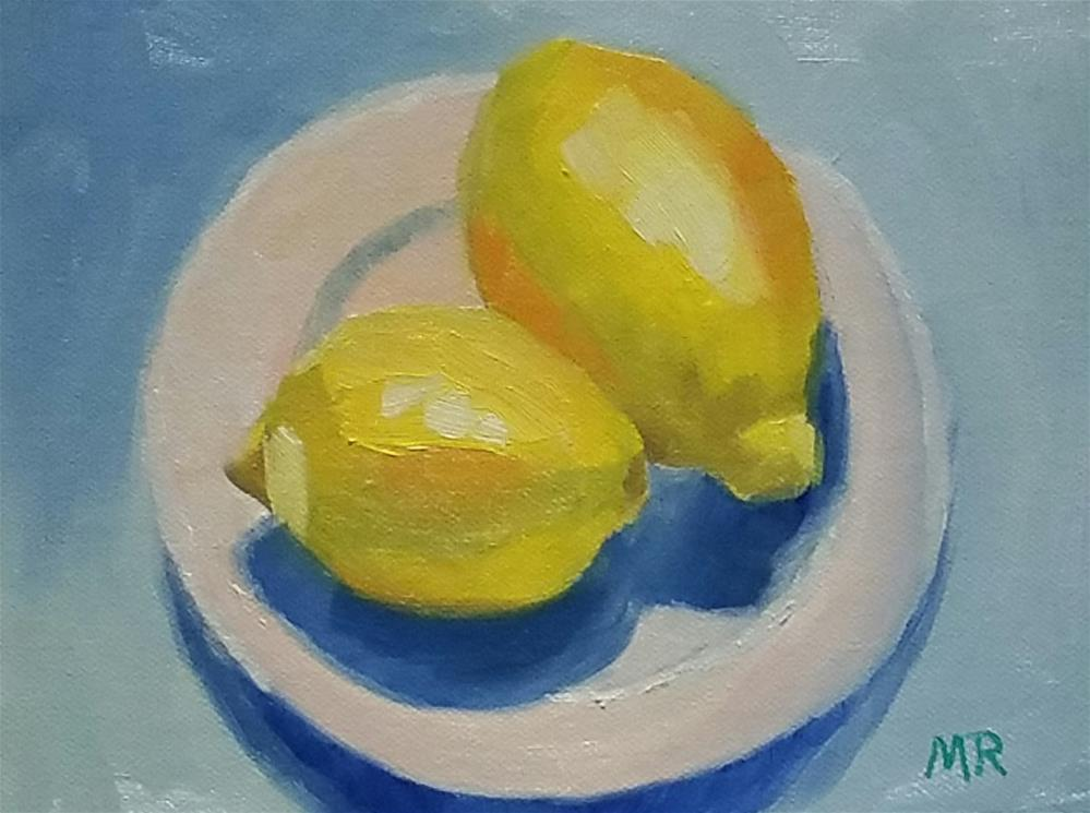 """Sunny Lemons"" original fine art by Michelle Rideout"