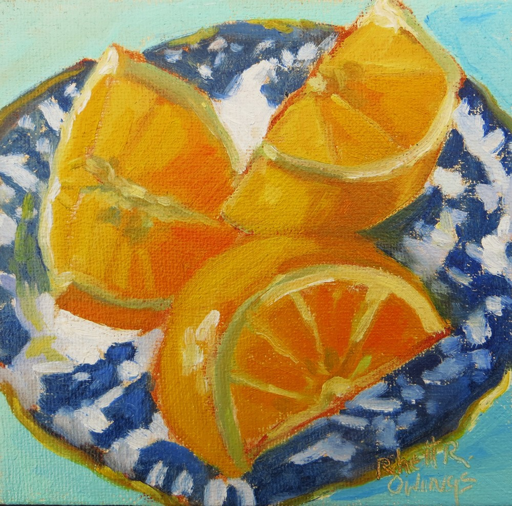 """Oranges For Breakfast"" original fine art by Rhett Regina Owings"