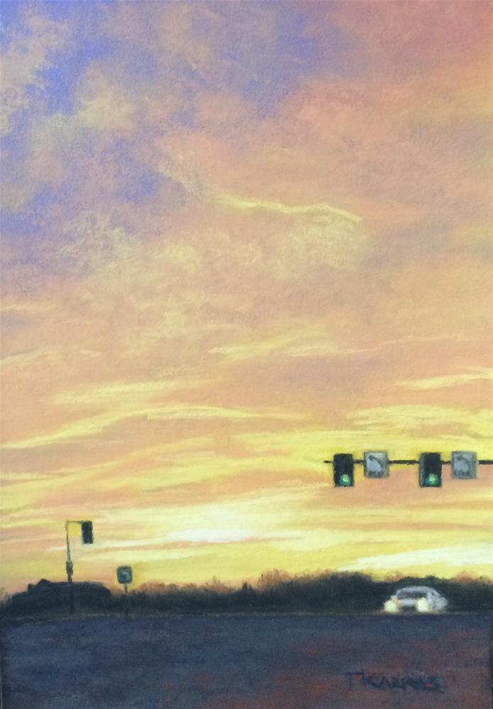 """""""Almost Home"""" original fine art by Christina Karras"""