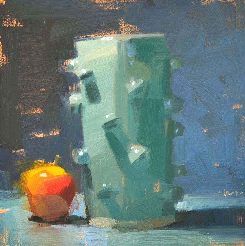"""Leaning Knobby Vase"" original fine art by Carol Marine"