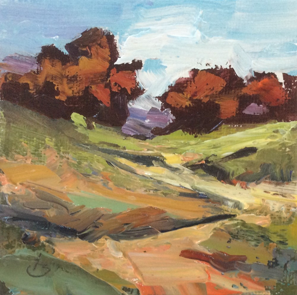 """MINIATURE LANDSCAPE"" original fine art by Tom Brown"