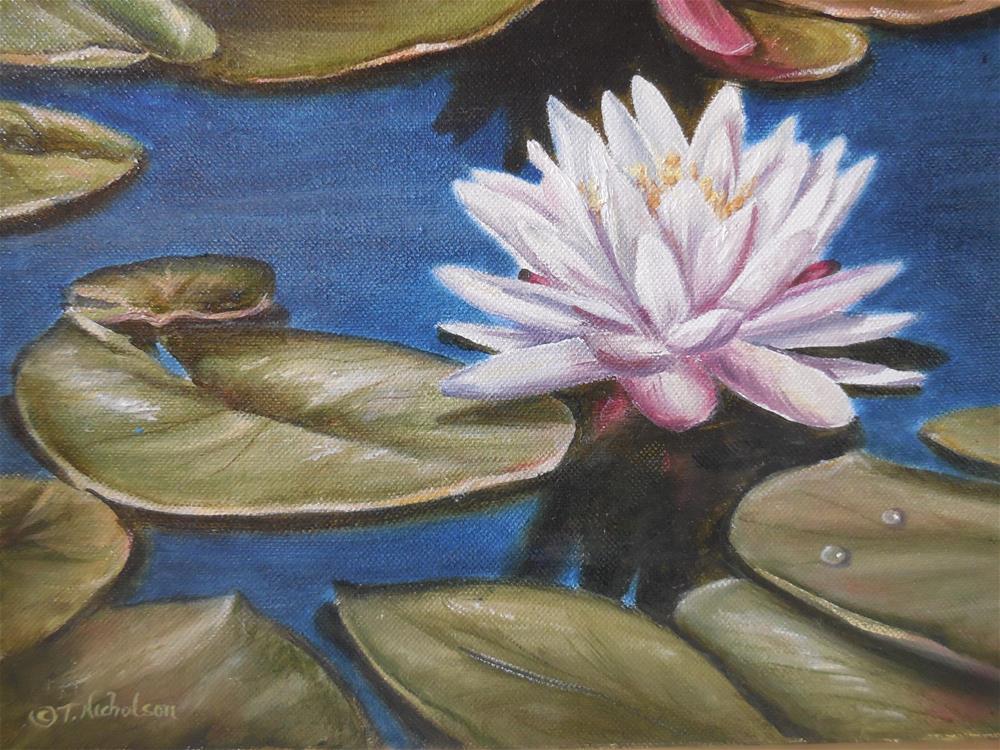 """Lily Pad"" original fine art by Terri Nicholson"