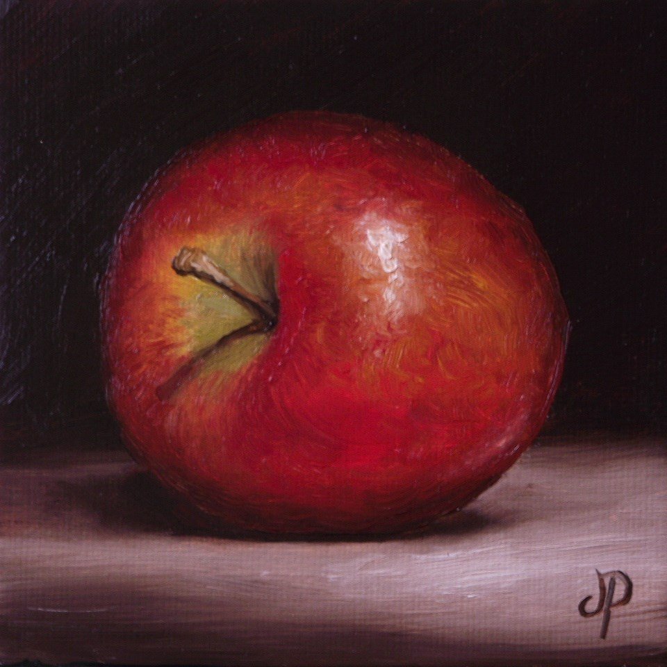 """Little Braeburn Apple #2"" original fine art by Jane Palmer"