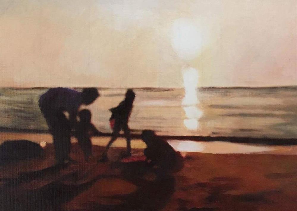 """Fun At Sunset"" original fine art by John Cameron"