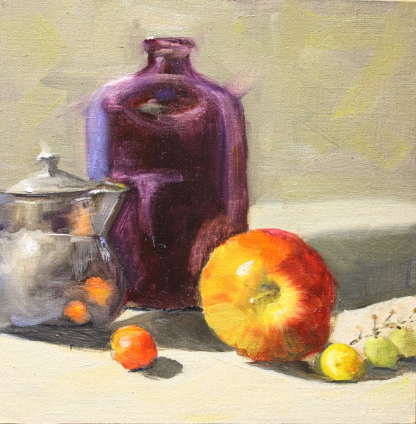 """Star Apple"" original fine art by Jane Frederick"