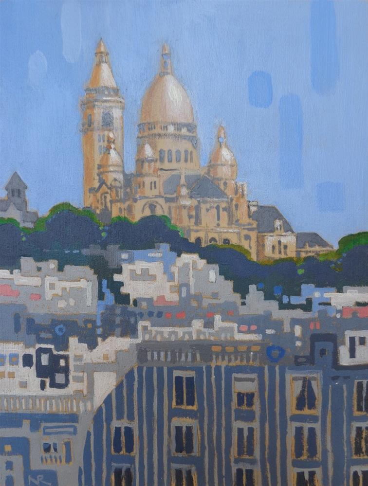 """Sacre Coeur"" original fine art by Nancy Roberts"