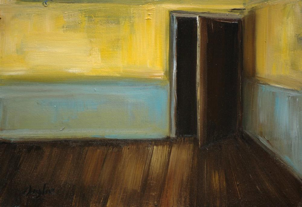 """""""Yellow and Blue Room"""" original fine art by Angela Ooghe"""