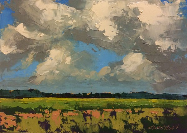 """Old Weston Hayfields"" original fine art by Mary Gilkerson"