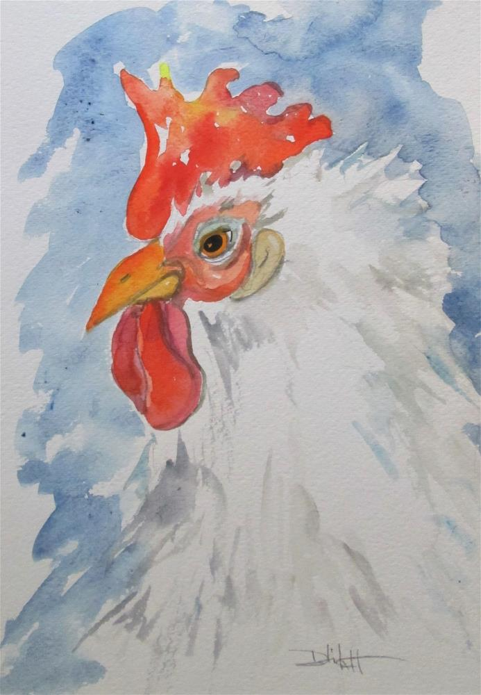 """""""Rooster No. 56"""" original fine art by Delilah Smith"""
