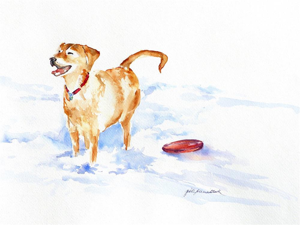 """Snow Dog"" original fine art by Judith Freeman Clark"