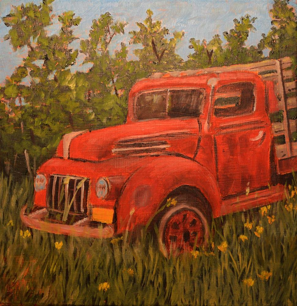 """""""Tow Truck in Need of a Tow"""" original fine art by Robert Frankis"""