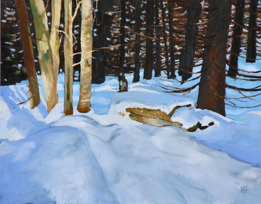 """Shadows of Winter"" original fine art by Carol Granger"