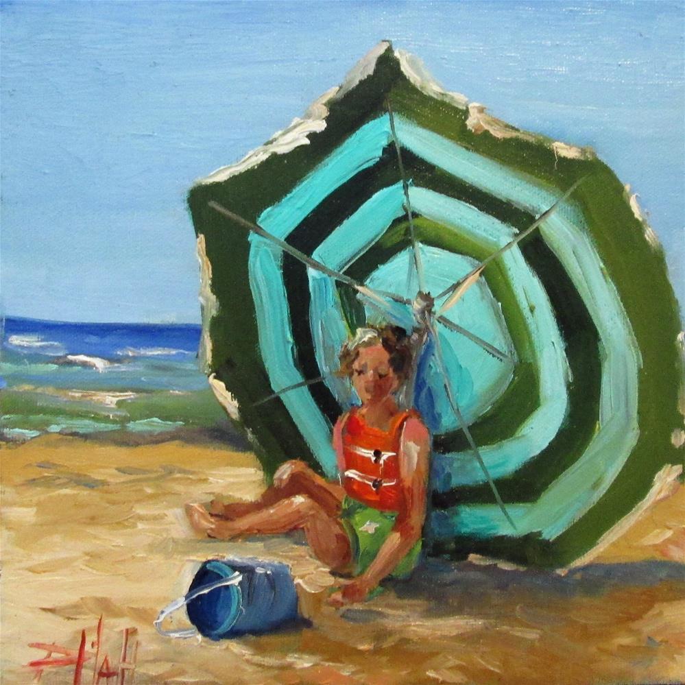 """Summer Break"" original fine art by Delilah Smith"