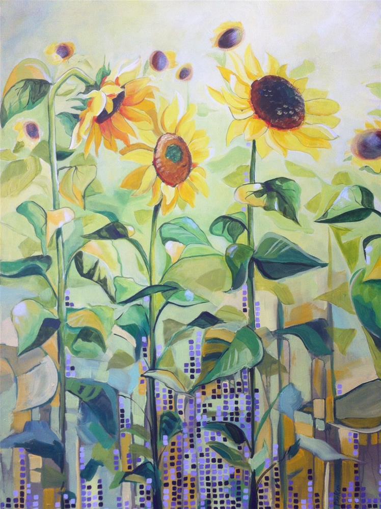"""Follow the Sun"" original fine art by Teddi Parker"