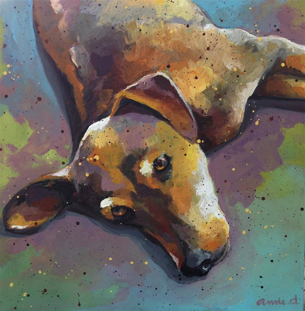 """""""I heard you, but not right now..."""" original fine art by Anne Ducrot"""