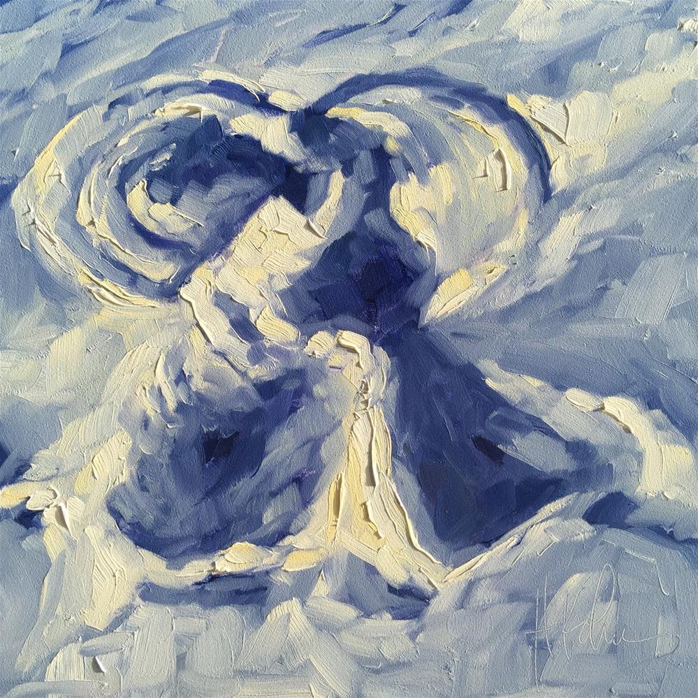 """Snow Angel"" original fine art by Hallie Kohn"