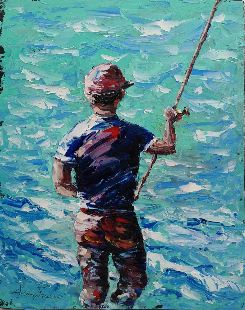 """Surf Fishin"" original fine art by Ken Fraser"
