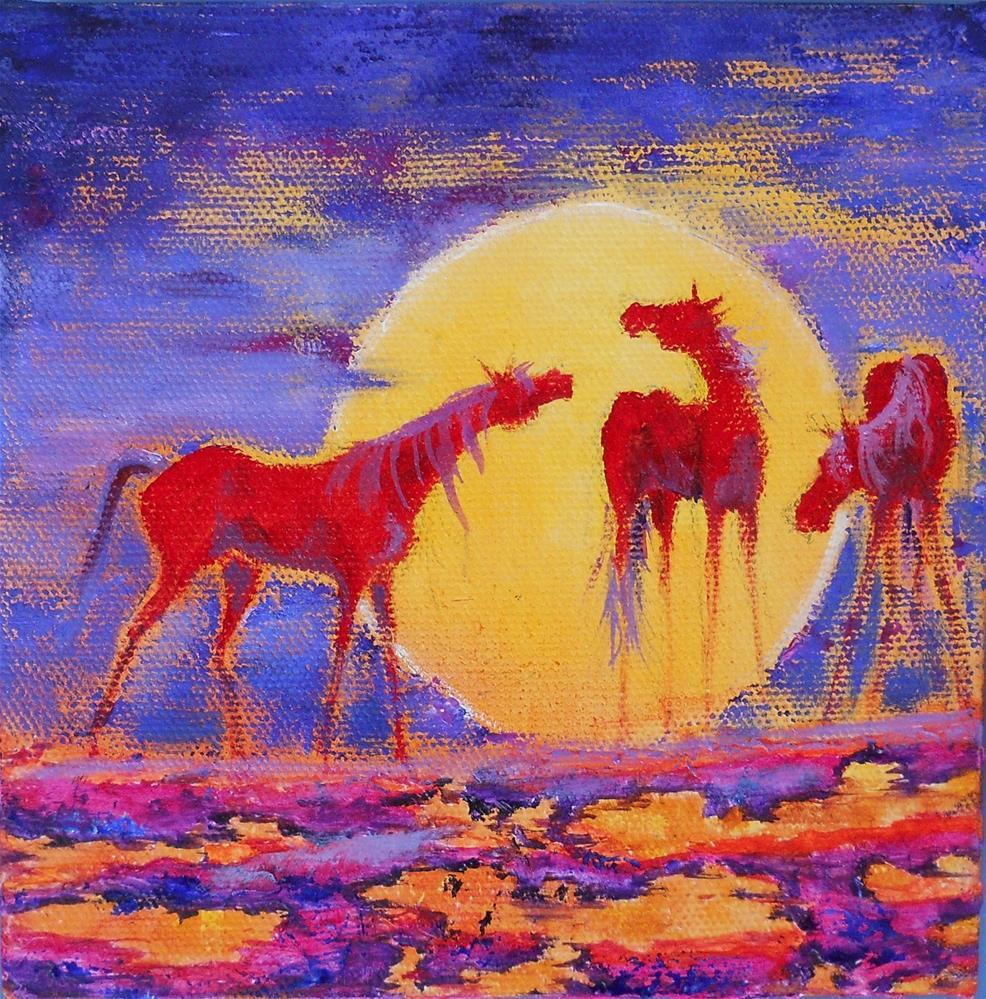 """Moonlight Romance"" original fine art by Colleen Drury"