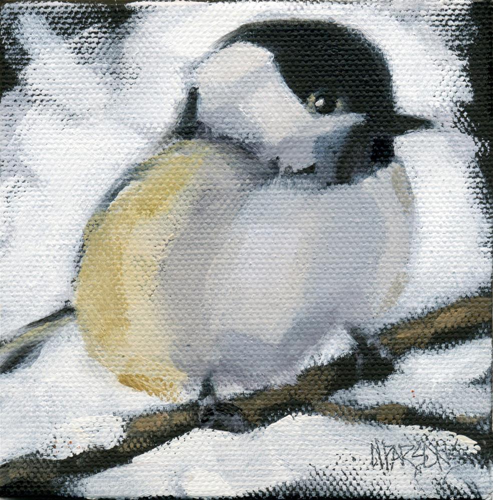 """My Little Chickadee"" original fine art by Nancy Parsons"