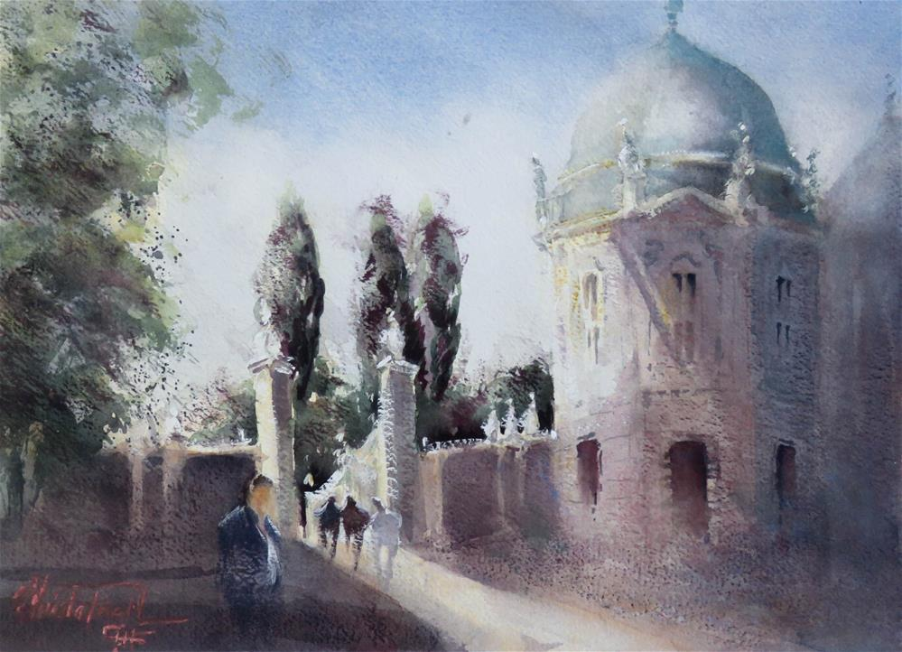 """Castle Belvedere, Vienna"" original fine art by Christa Friedl"
