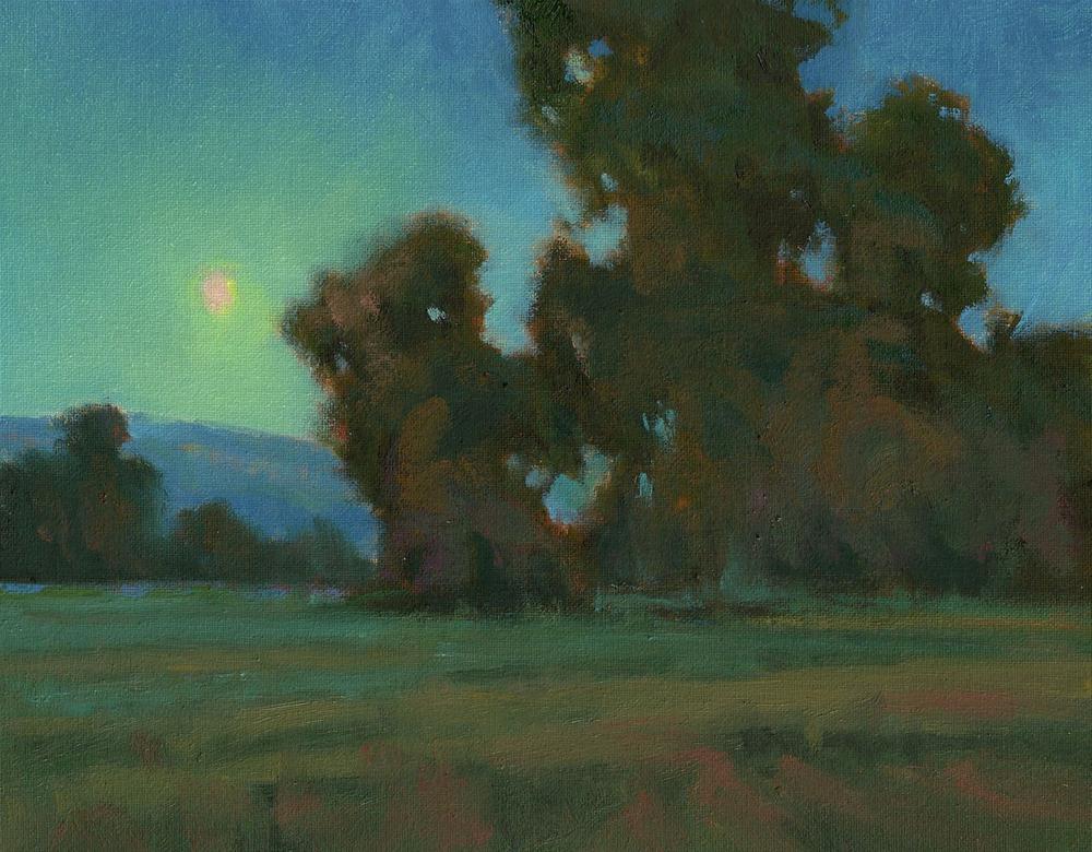 """""""September Moonlight"""" original fine art by David Forks"""