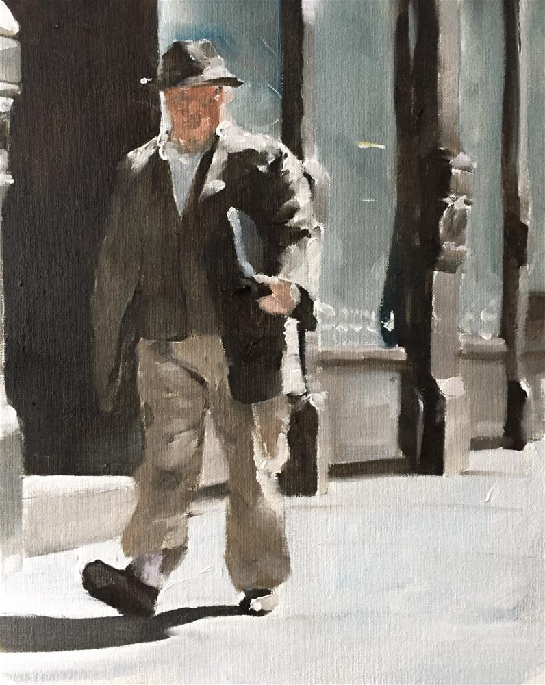 """""""The Busy Man"""" original fine art by James Coates"""