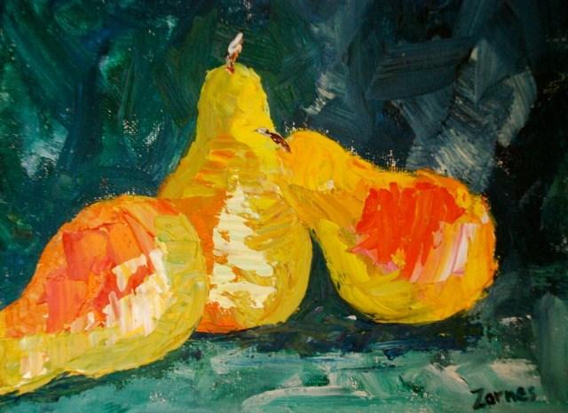 """Abstract Pears"" original fine art by Liz Zornes"
