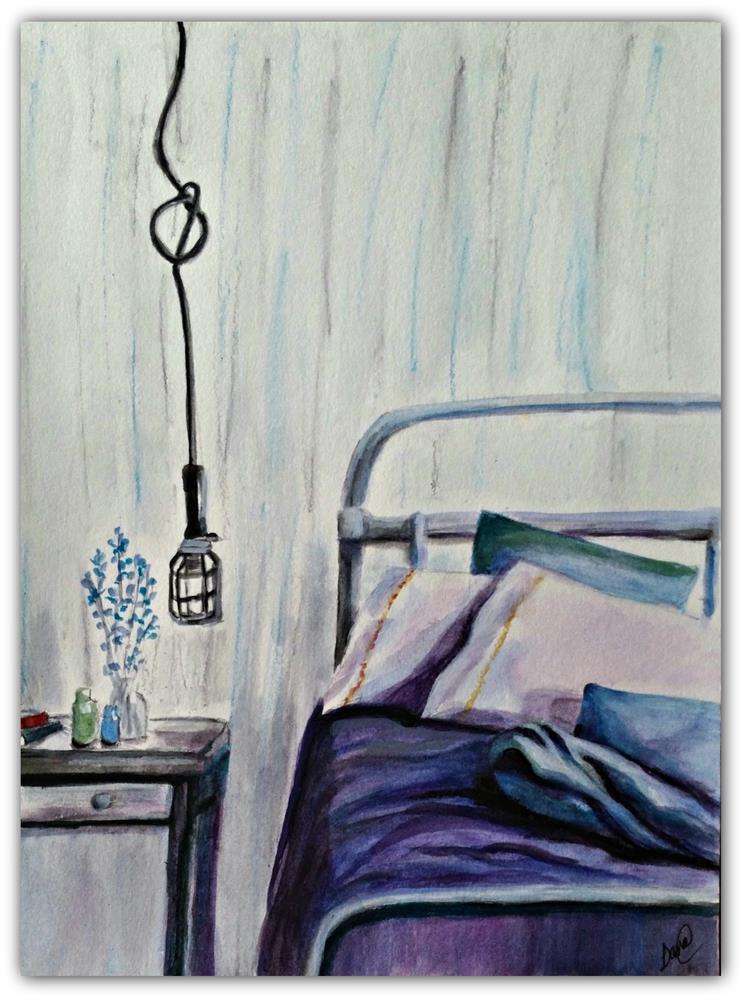 """""""My Bedroom"""" original fine art by Dana C"""