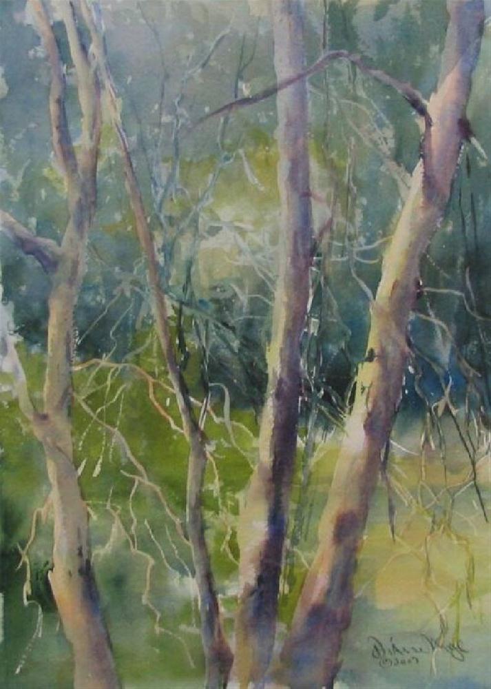 """Patti's Trees"" original fine art by Dianne Mize"