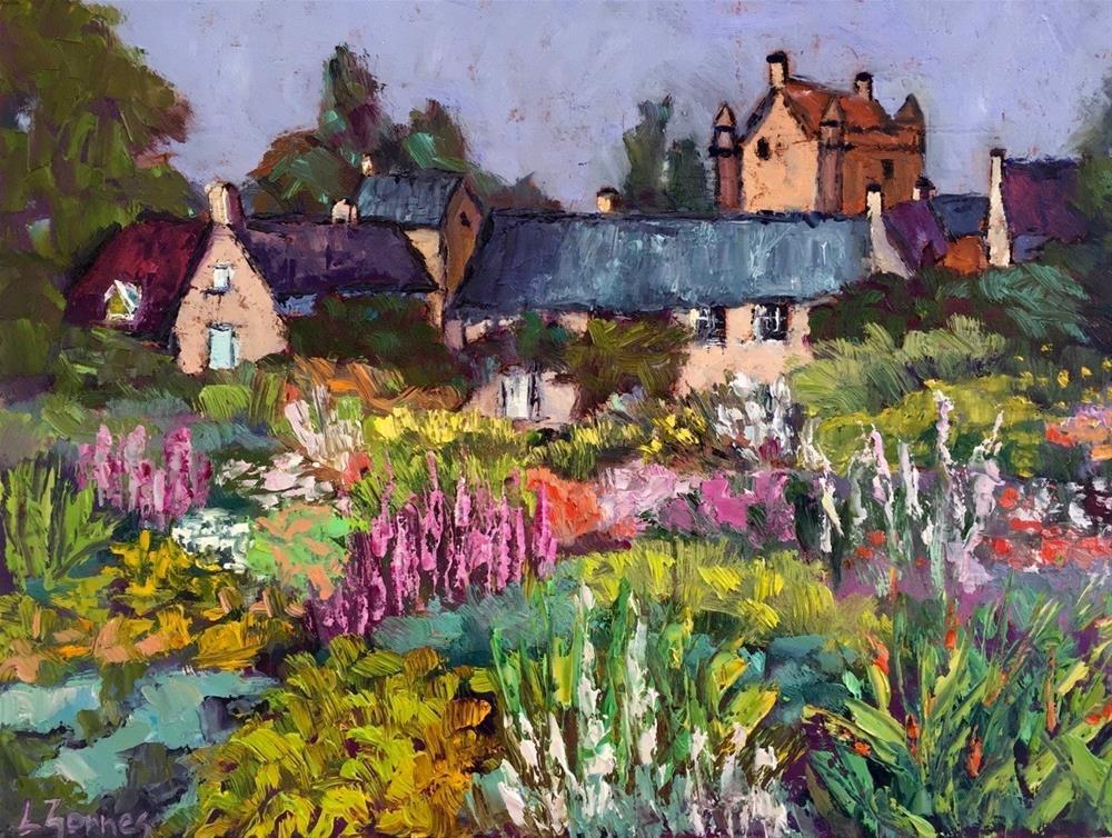 """""""Castle Gardens, Scotland"""" original fine art by Liz Zornes"""