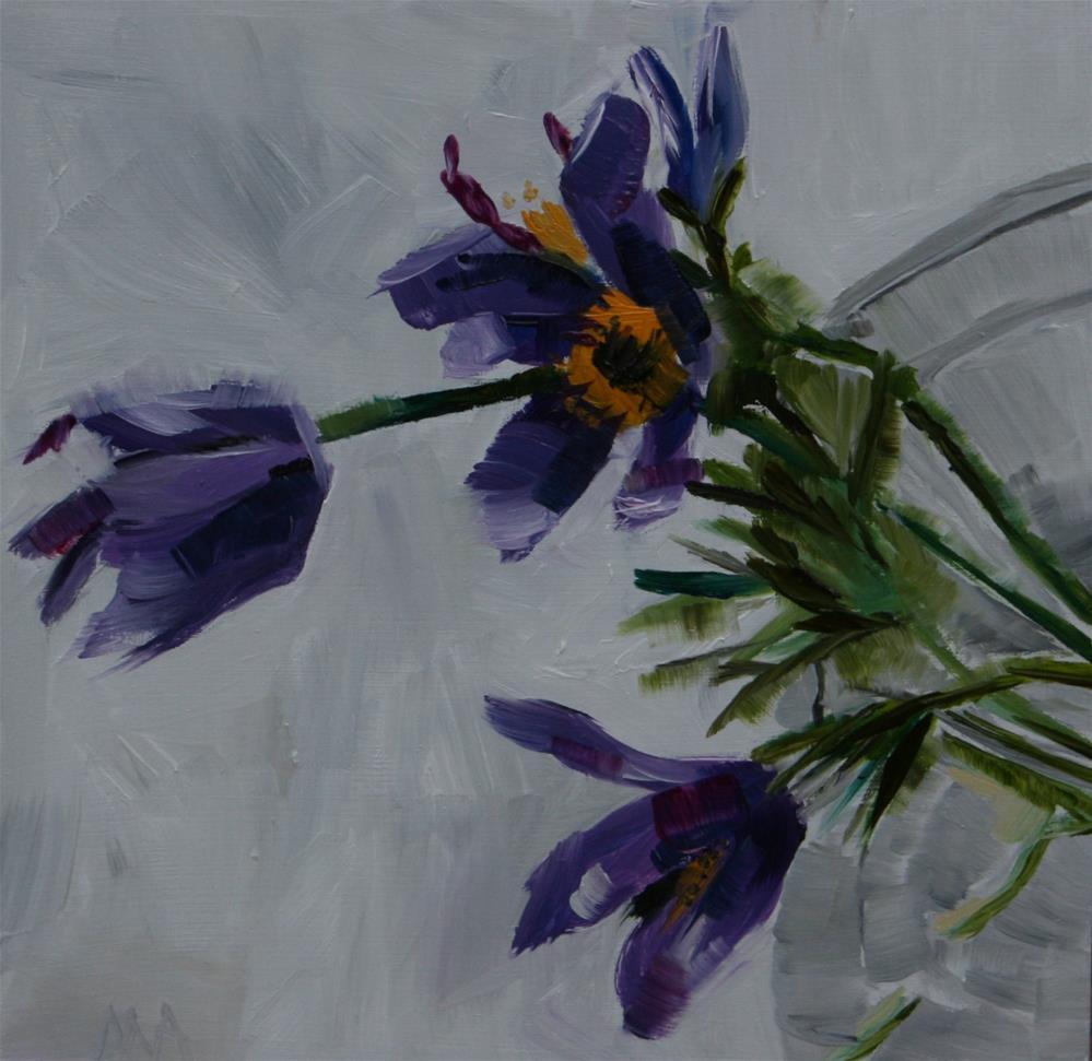"""Those Hairy Flowers"" original fine art by Aniko Makay"