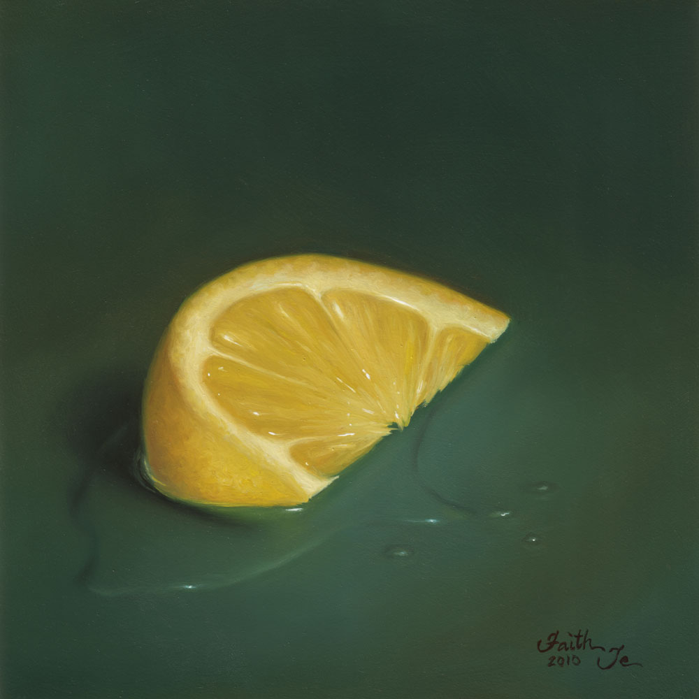 """Lemon Wedge"" original fine art by Faith Te"