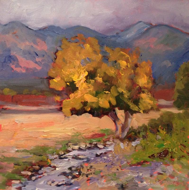 """Taos Tree I, Day 49"" original fine art by Claudia L Brookes"