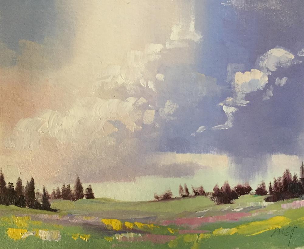 """Cedar Breaks - Spring Flowers"" original fine art by Mary Jabens"