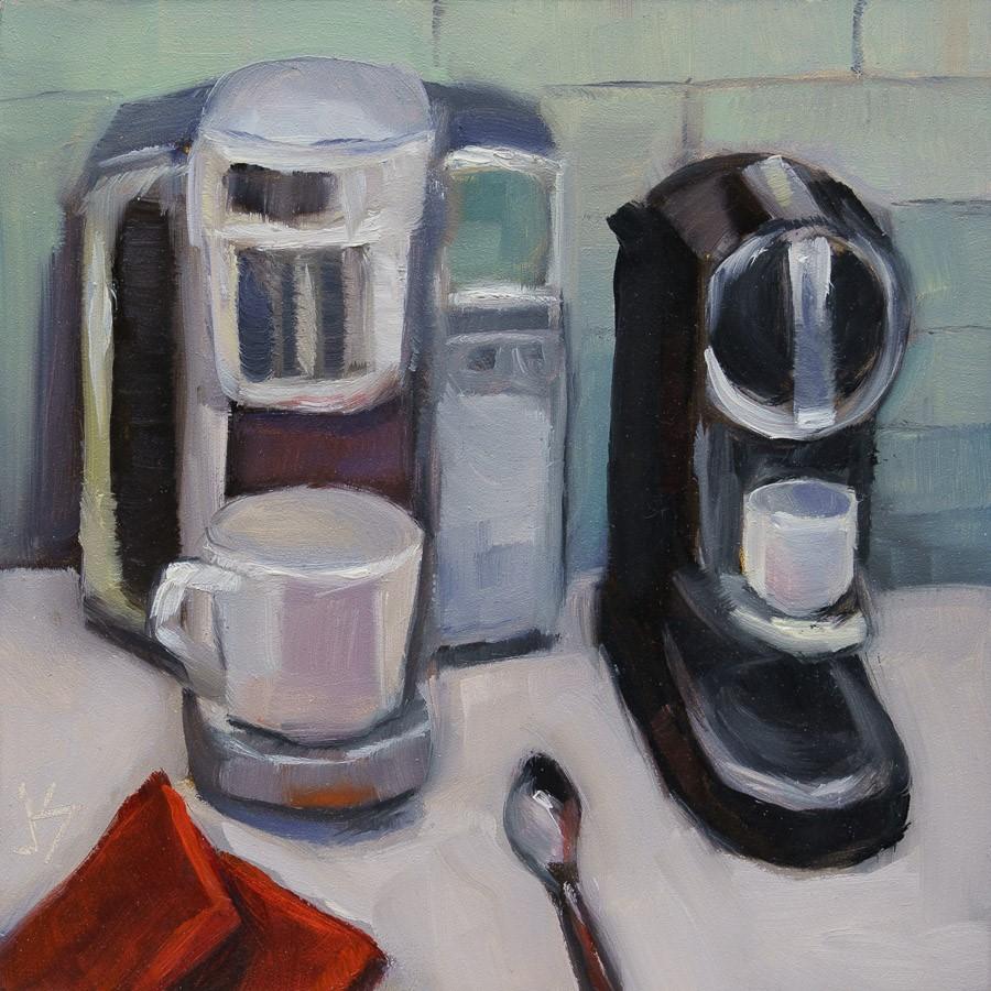 """""""AM - PM Besties"""" original fine art by Johnna Schelling"""